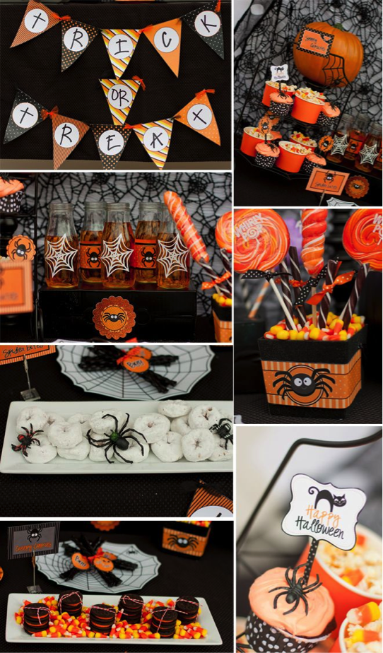 spider web themed halloween party ideas from pizzazzeriecom for children and adults - Halloween Events Virginia